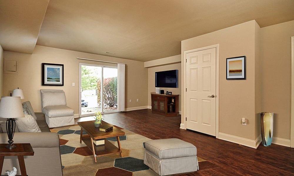 Apartment for rent with spacious living area at The Village of Laurel Ridge in Harrisburg, Pennsylvania