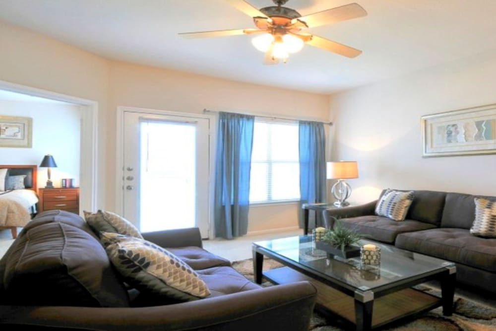 Living room at Legacy of Cedar Hill Apartments & Townhomes in Cedar Hill, Texas