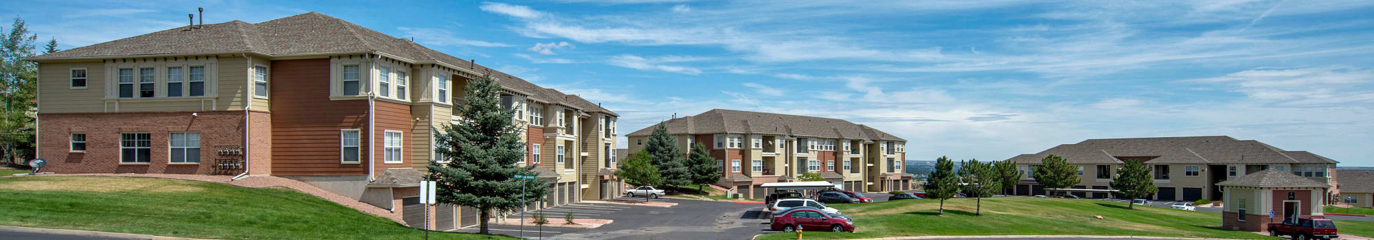 See the Retreat at Cheyenne Mountain Apartments floor plans