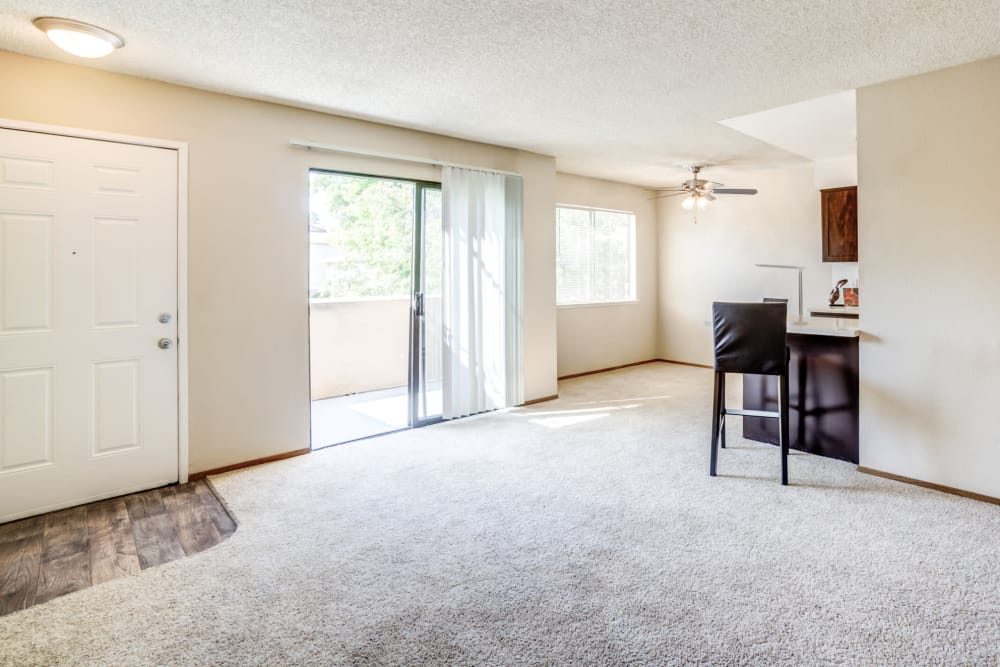 Open concept apartment at Parkside Commons Apartments