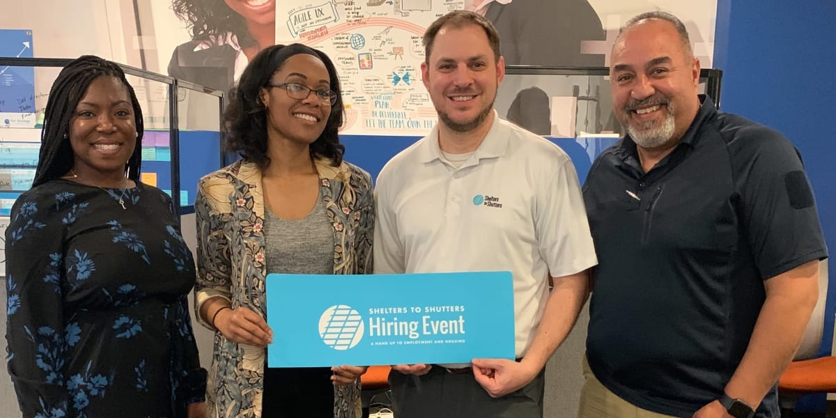 Our team members at a hiring event near Harbor Group Management in Norfolk, Virginia