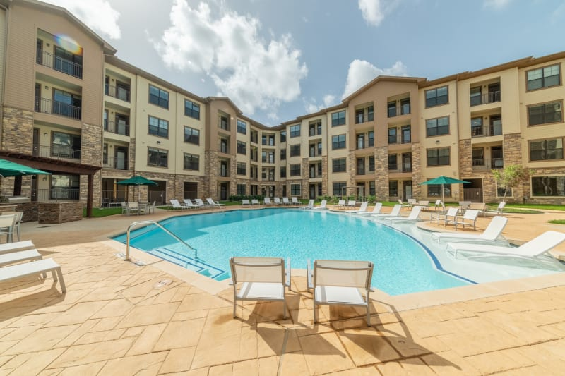 Bask in the sun at our Resort-Style Pool at Haven at Liberty Hills in Houston, TX