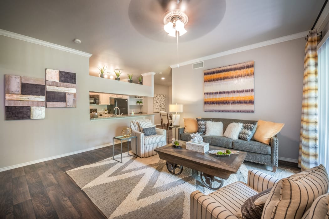 {location_name}} showcases a well decorated and unique living room in Plano, Texas