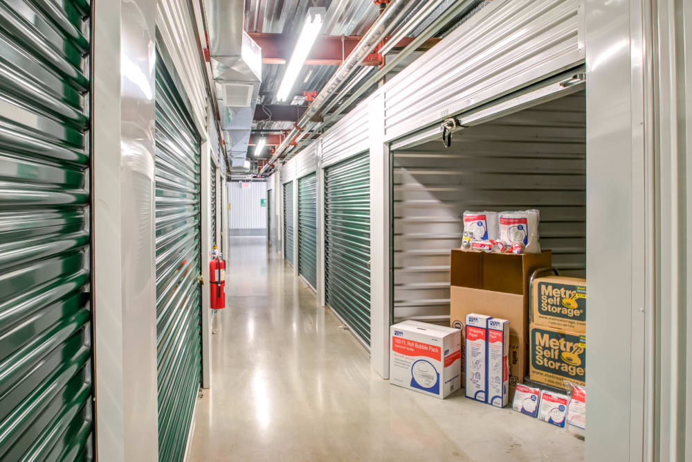 Open indoor unit at Metro Self Storage in Limerick, Pennsylvania
