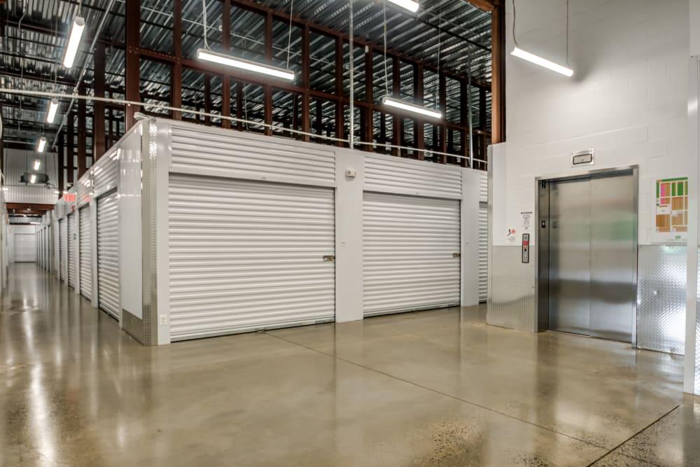 Interior storage units at Metro Self Storage in Doylestown