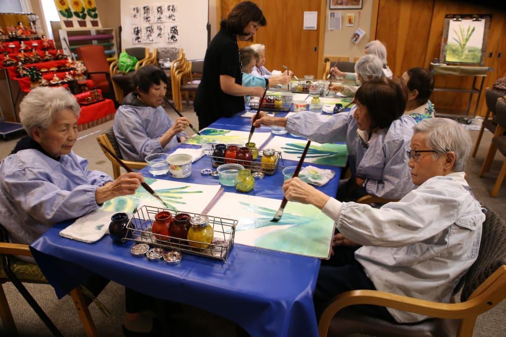 Seniors painting
