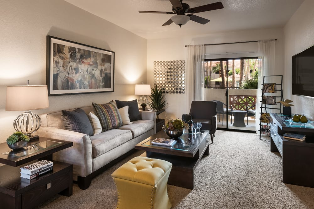Beautiful open-concept floor plan in model home at San Prado in Glendale, Arizona