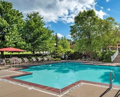 Sparkling swimming pool at Waterford Nevillewood Apartments in Presto, PA
