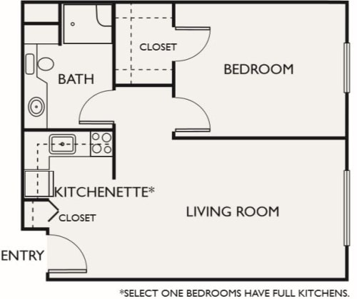 Assisted Living One Bedroom II at Northgate Plaza in Seattle, Washington