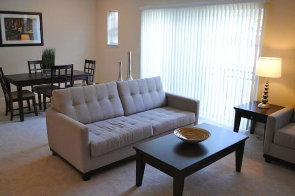 Unique living room at Orchard Meadows Apartment Homes in Ellicott City, Maryland