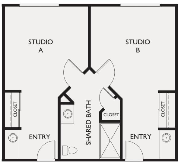 Memory care shared studio at Estancia Del Sol in Corona, California