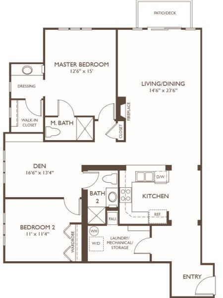 Independent Living Two Bedroom Plus Den at Hillcrest of Loveland in Loveland, Colorado