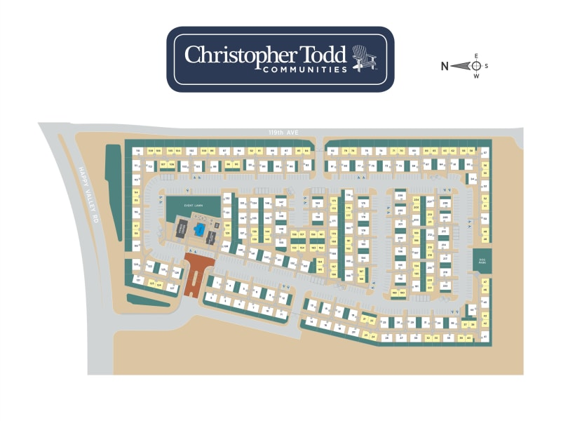Christopher Todd Communities On Happy Valley site plan