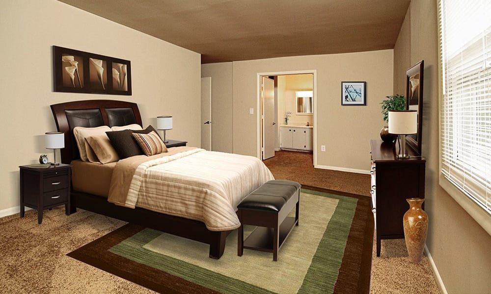 Spacious bedroom at The Village of Laurel Ridge in Harrisburg, Pennsylvania
