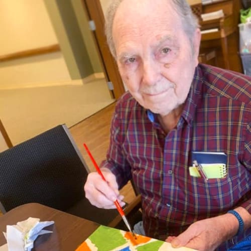 Painting at The Oxford Grand Assisted Living & Memory Care in Kansas City, Missouri