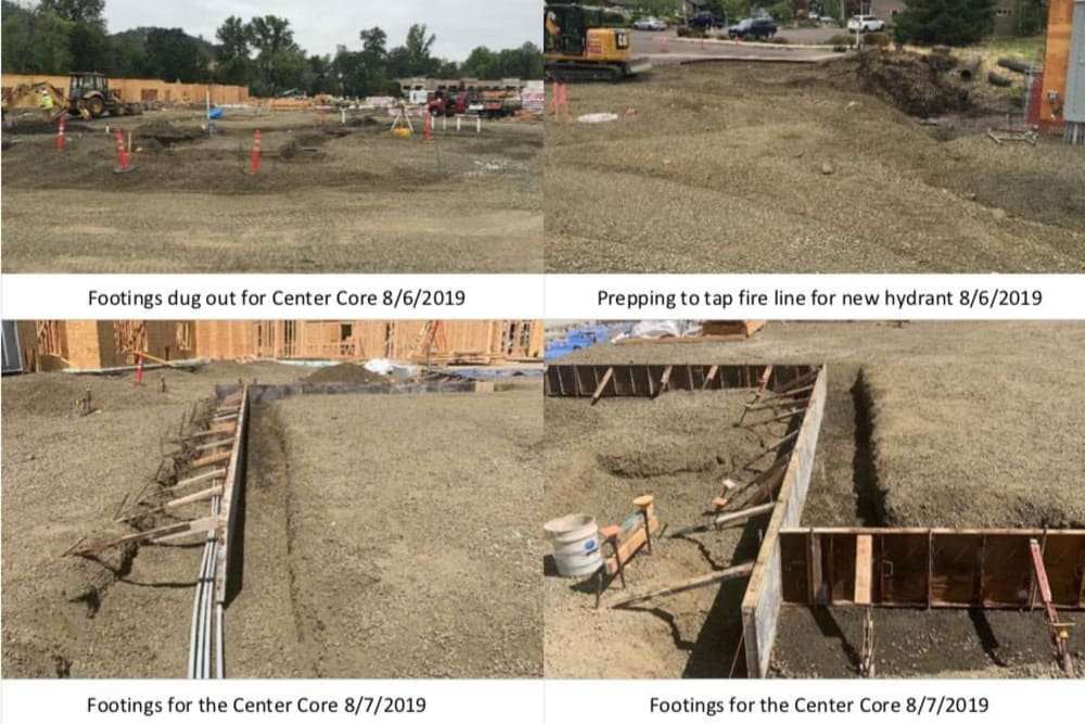 Updated construction site photo at The Landing a Senior Living Community in Roseburg, Oregon