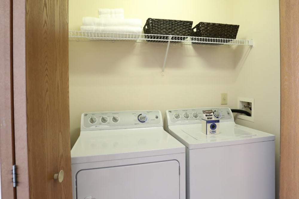 Washer and dryer at apartments in Westerville, Ohio