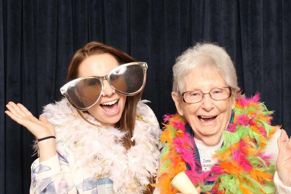 Having fun at an event at Merrill Gardens at Willow Glen in San Jose, California.
