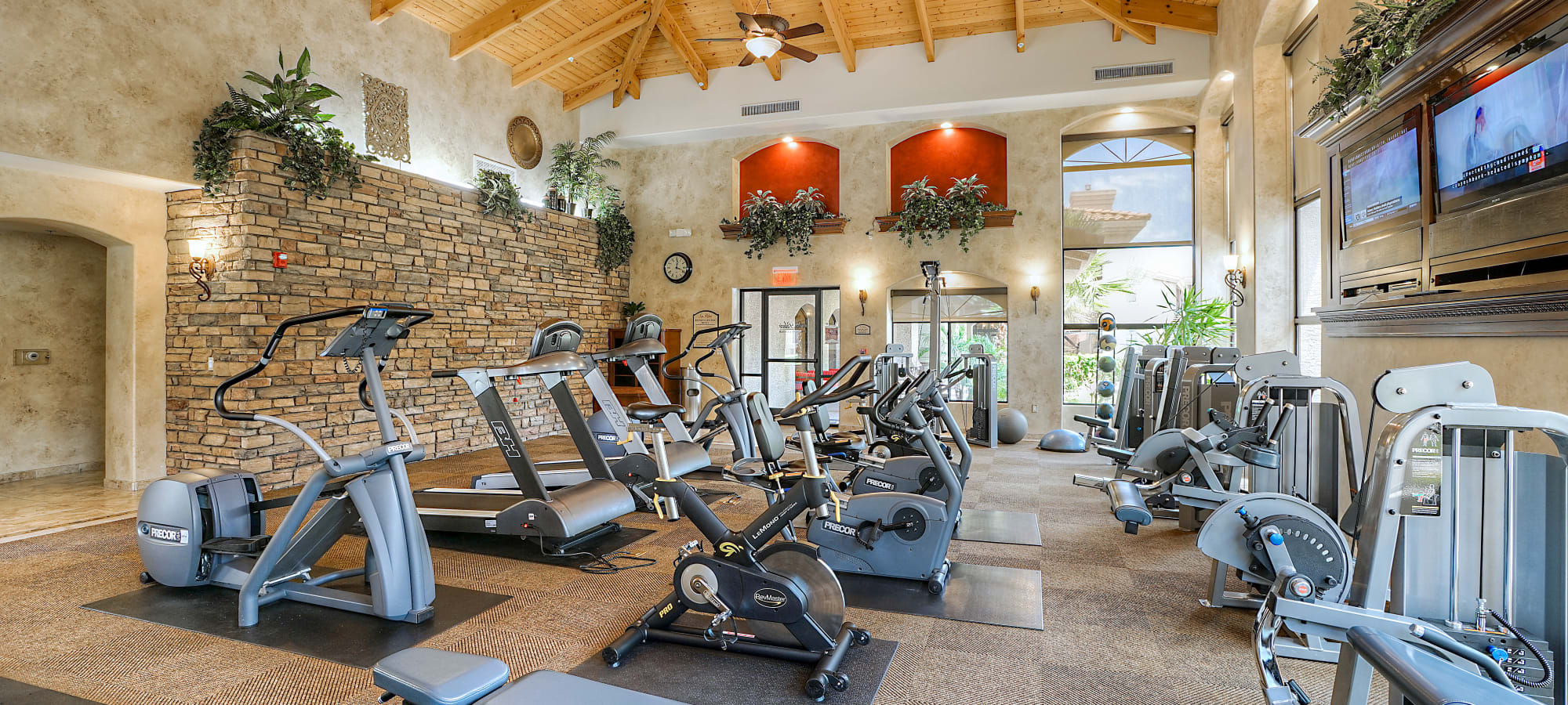 Private resident fitness center at San Palacio in Chandler, Arizona