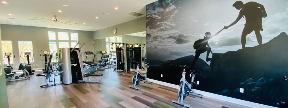 The 24-hour fitness center at Palisades Sierra Del Oro in Corona, California