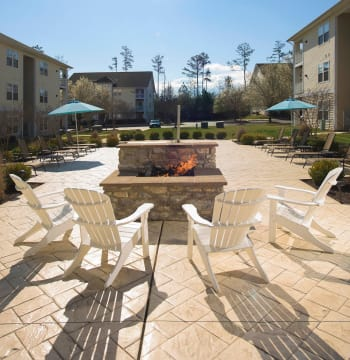 Courtyard with firepit at Lexington Park, Maryland near Park Villas Apartments