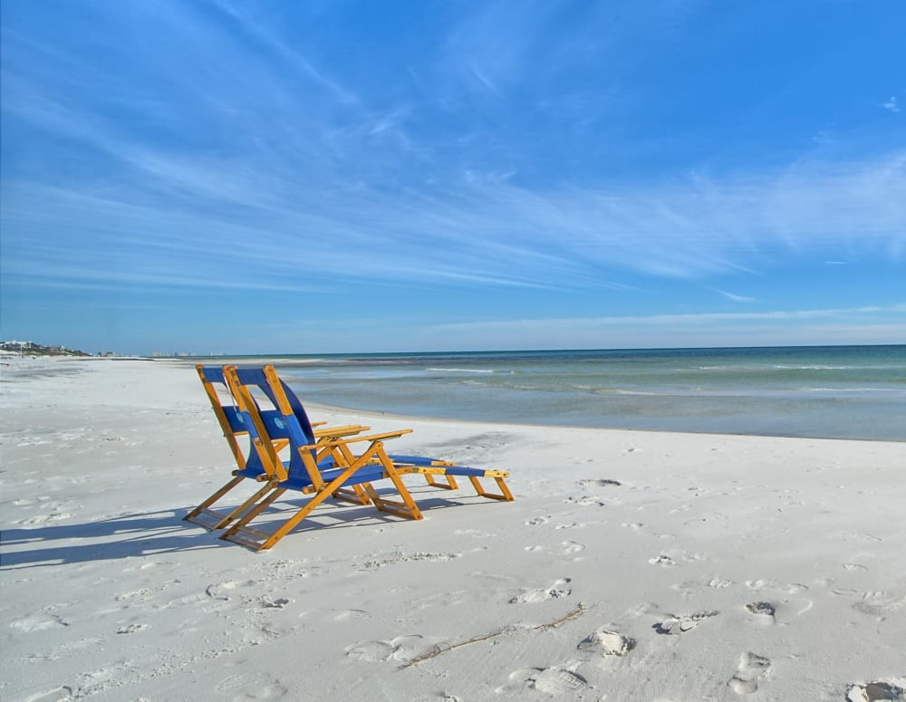 Beach chairs near The Braxton in Palm Bay, Florida