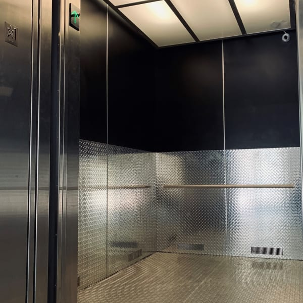 Inside of the elevator at My Neighborhood Storage Center in Tampa, Florida