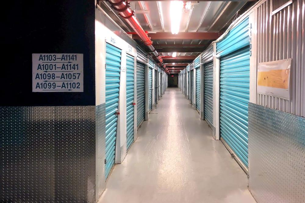 Indoor storage units at Prime Storage in Jamaica, New York