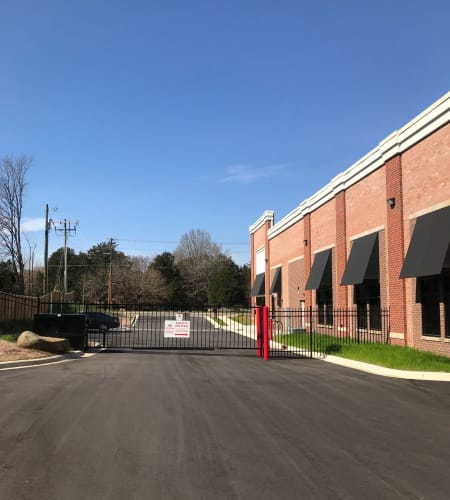 Gated entrance at Steele Creek Self Storage in Charlotte, NC