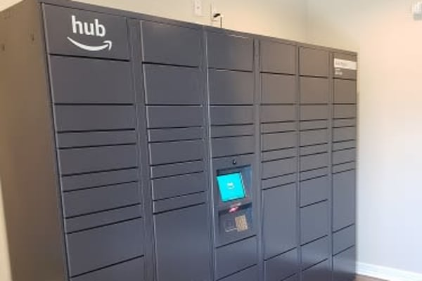 Amazon lockers available at Elevate at Red Rocks in Lakewood