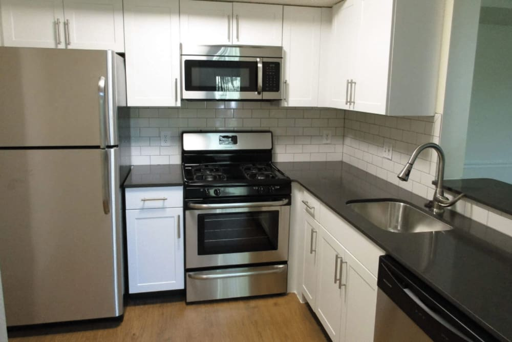 Bright kitchen at Vista Point Apartments in Wappingers Falls, New York