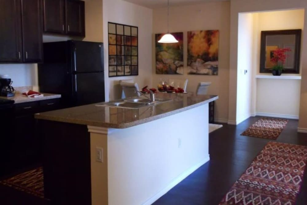 Model kitchen at Sonoma Palms in Las Cruces, New Mexico