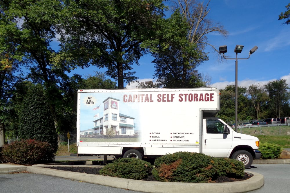 Moving truck at Capital Self Storage in Harrisburg, PA