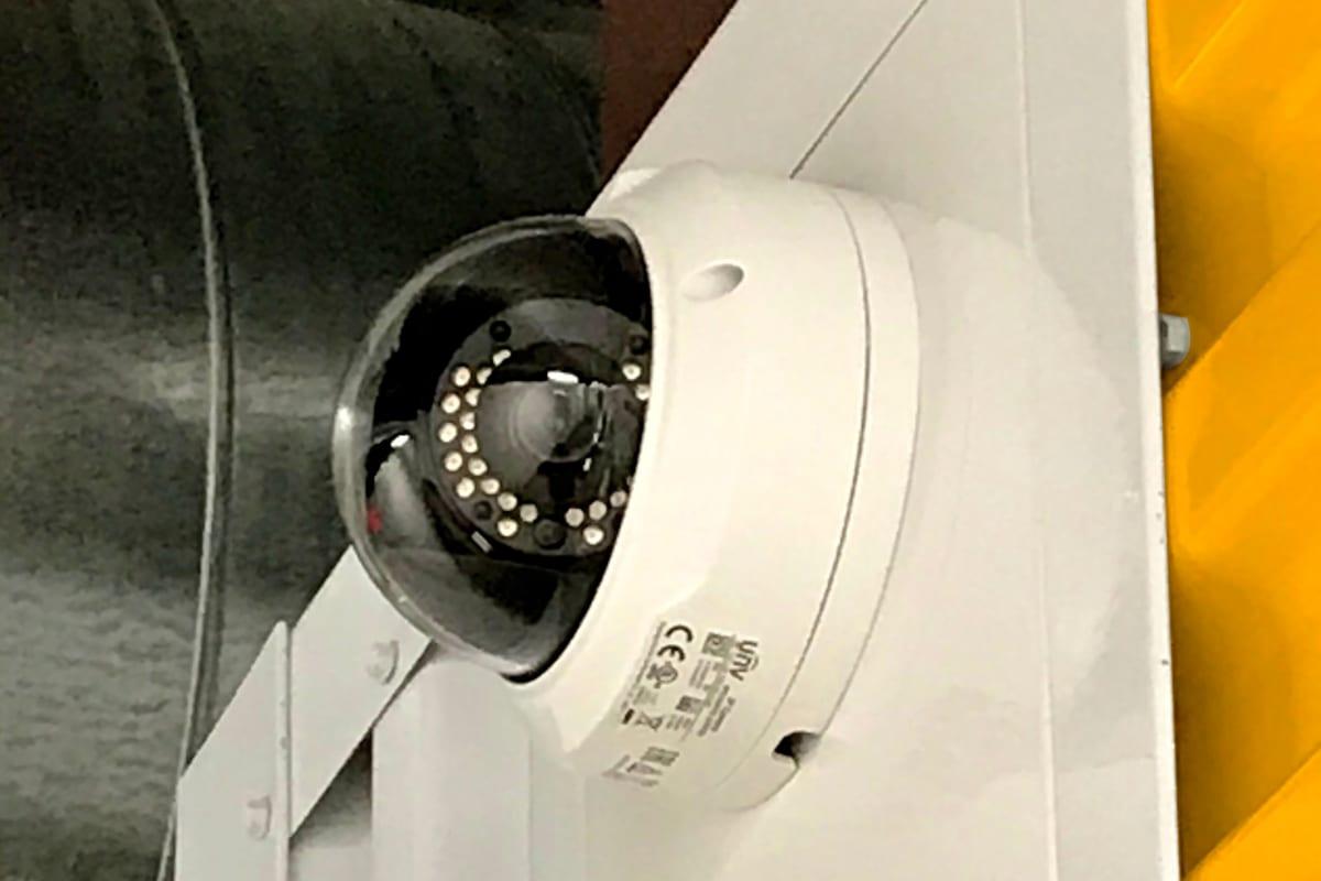 A security camera inside of Storage 365 in Colorado Springs, Colorado