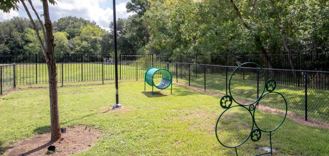 Dog park at Amberjack Estates in Houston, TX