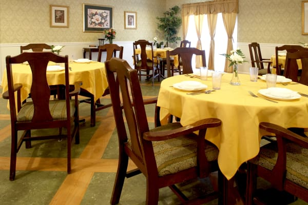 Dining area at the senior facility at Heritage Hill Senior Community in Weatherly, Pennsylvania