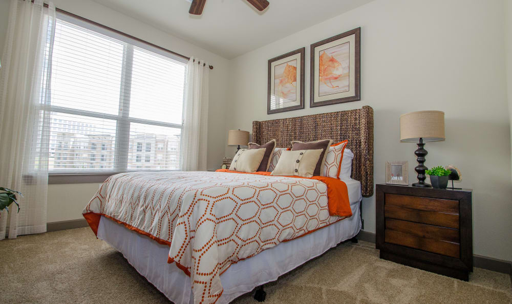 large bedroom at GreenVue Apartments