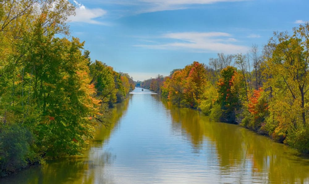 Erie Canal in Fairport, NY