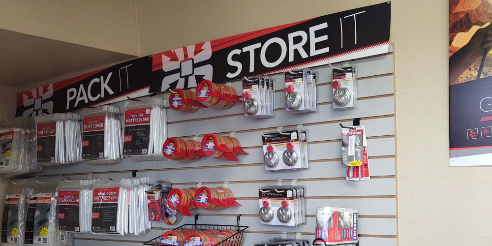 Packing supplies available at StorQuest Self Storage in Glendale, Arizona
