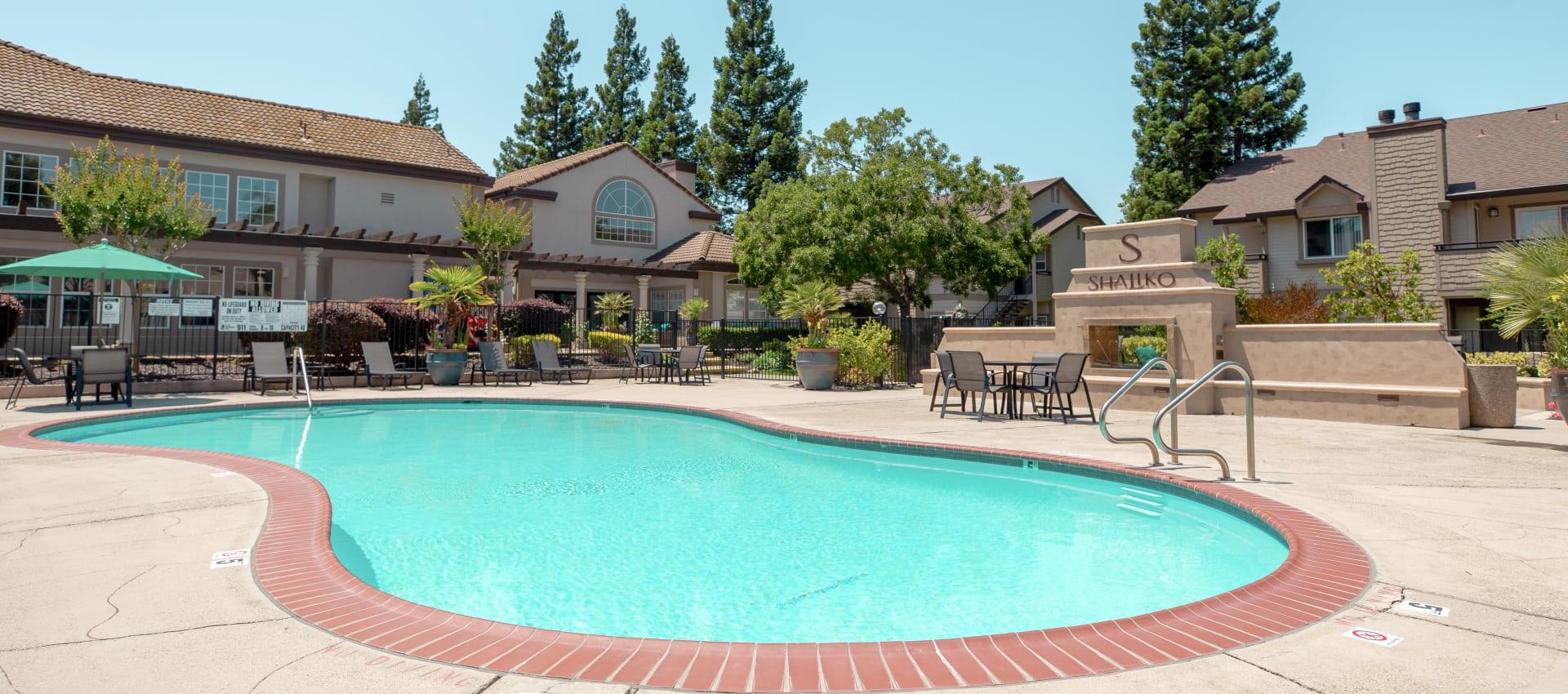 pool area at Shaliko in Rocklin, California.