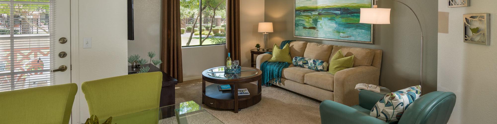Floor plans at San Palmilla in Tempe, Arizona