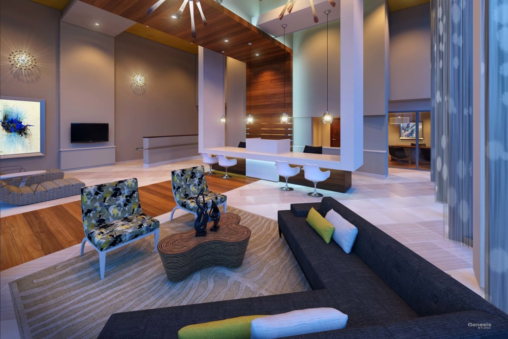 Spacious living room in Miami, FL