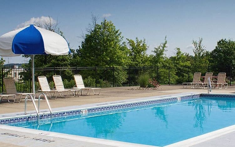 Sparkling swimming pool at Westpointe Apartments