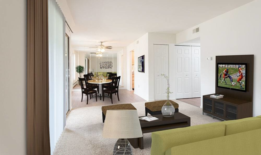 Ample living space at Steeplechase Apartments home in Camillus, NY