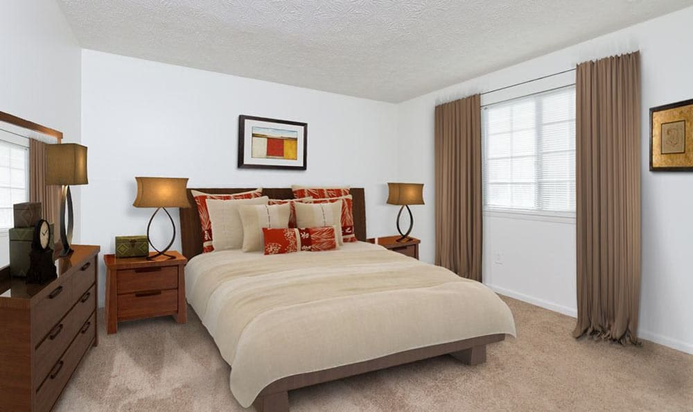 Bedroom at Waverlywood Apartments & Townhomes in Webster, New York
