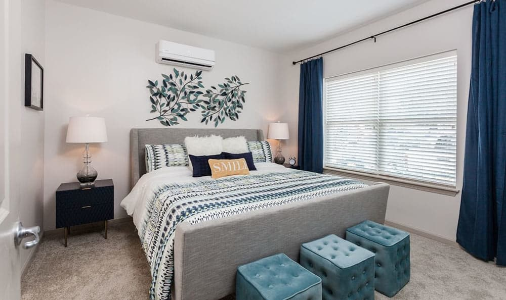 Bedroom at Village Heights Senior Apartments in Fairport