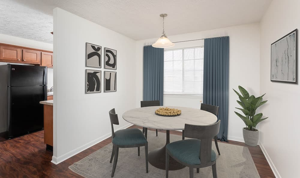 Lovely Dining Room at Waverlywood Apartments and Townhomes home in Webster, NY