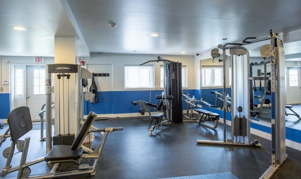 Fitness center at Riverton Knolls in West Henrietta, NY