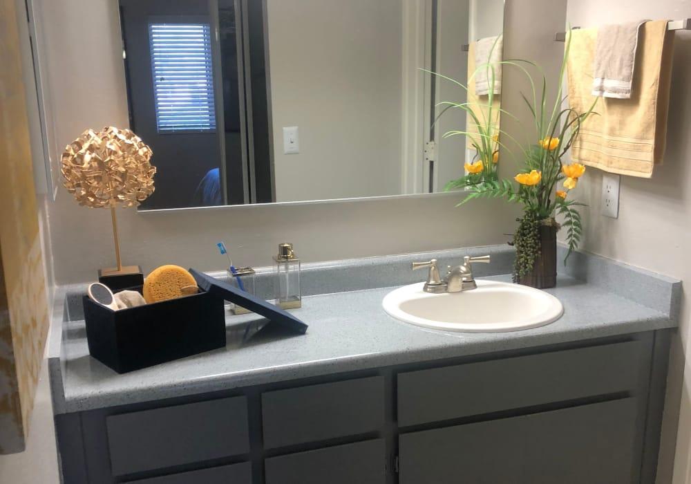 Bathroom layout at Elevation Apartments in Tucson, Arizona