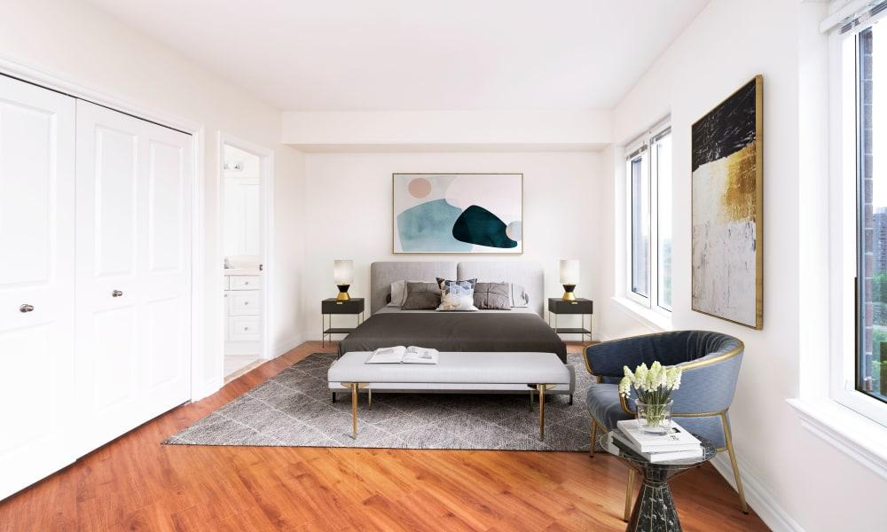 50 Laurier model bedroom in Ottawa, Ontario